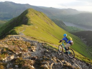 Evening descent from Whiteless Pike