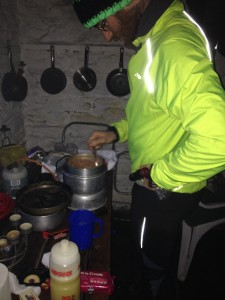 Luke on cooking duties
