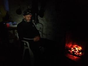 Tim on fire guard duties