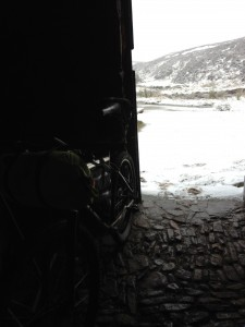 Sunday's view from the Bothy